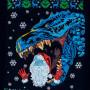 Світшот Santa та Godzilla