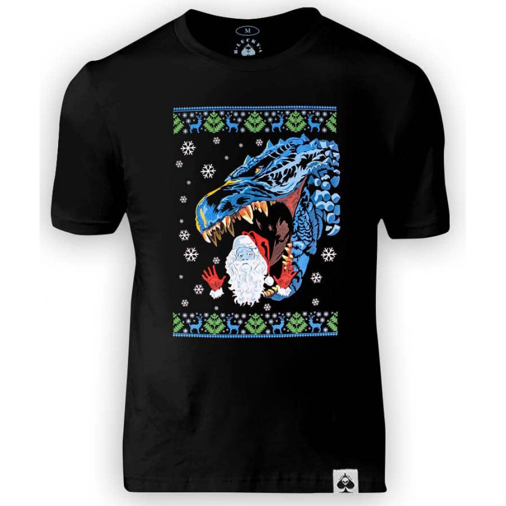 Футболка Santa&Godzilla