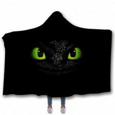 Мантія-плед 3D Toothless Black