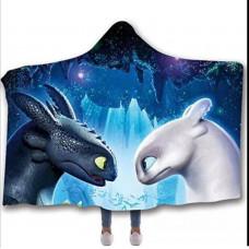 Мантія-плед 3D Toothless BW