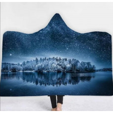 Мантія-плед 3D Winter landskape