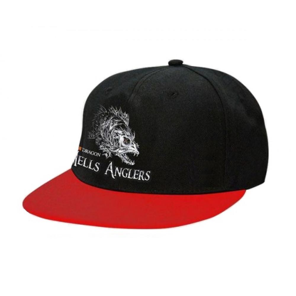 Кепка Dragon Hells Anglers Щука flat front чорно-червона