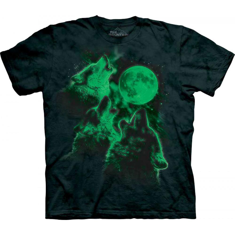 Футболка The Mountain - Three Wolf Moon Glow