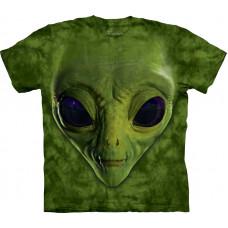 Футболка The Mountain - Green Alien Face