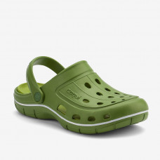 Клоги сабо COQUI JUMPER Kale green/Green
