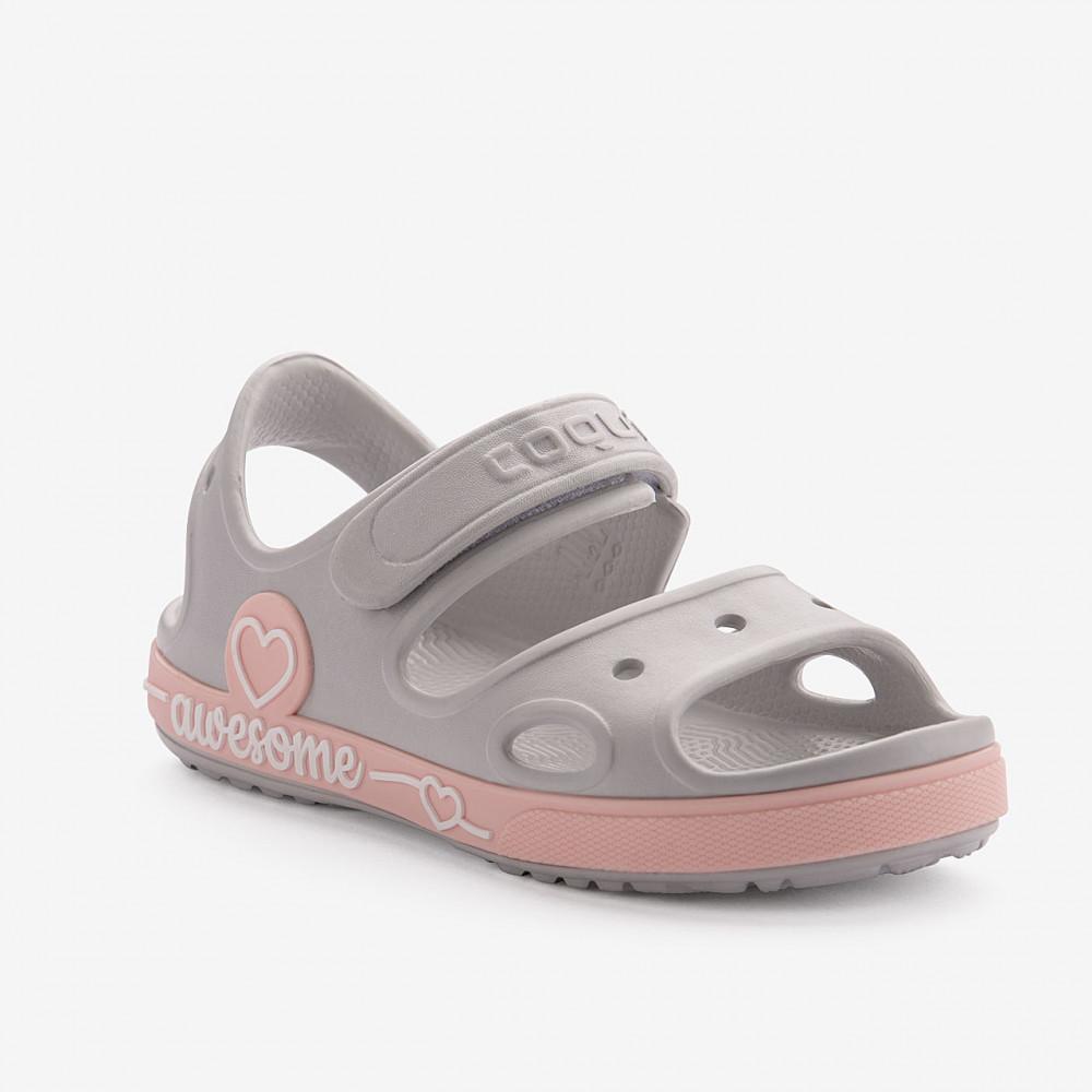 COQUI 8861 Khaki grey/Candy pink